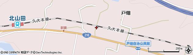 大分県玖珠郡玖珠町戸畑1195周辺の地図