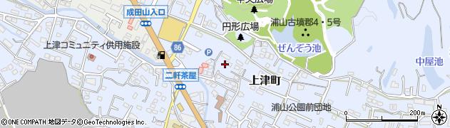 福岡県久留米市上津町周辺の地図