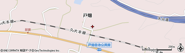 大分県玖珠郡玖珠町戸畑1315周辺の地図
