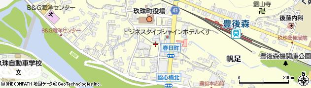 大分県玖珠郡玖珠町帆足春日町周辺の地図