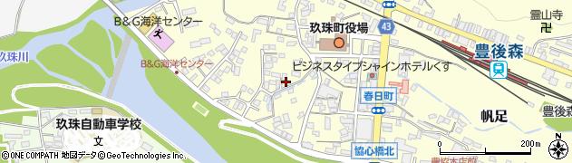 大分県玖珠郡玖珠町帆足306周辺の地図