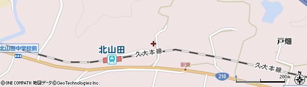大分県玖珠郡玖珠町戸畑1677周辺の地図