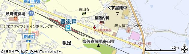 大分県玖珠郡玖珠町帆足456周辺の地図