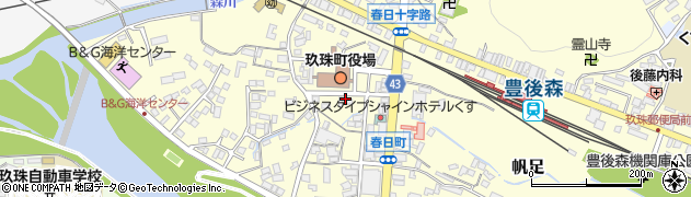 大分県玖珠郡玖珠町帆足262周辺の地図