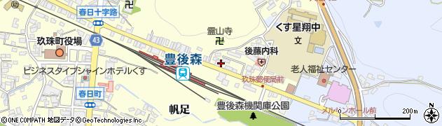 大分県玖珠郡玖珠町帆足457-1周辺の地図