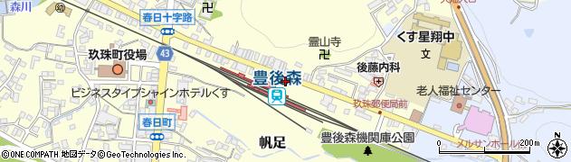 大分県玖珠郡玖珠町帆足246周辺の地図