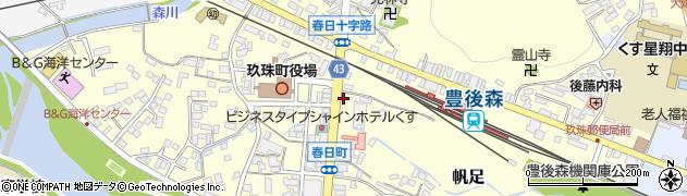 大分県玖珠郡玖珠町帆足230周辺の地図
