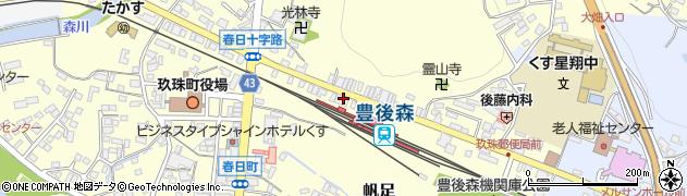大分県玖珠郡玖珠町帆足242周辺の地図