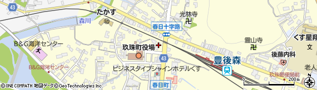 大分県玖珠郡玖珠町帆足229周辺の地図