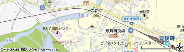 大分県玖珠郡玖珠町帆足本村周辺の地図