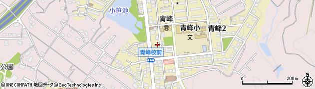 福岡県久留米市青峰周辺の地図