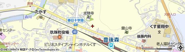 大分県玖珠郡玖珠町帆足昭和町周辺の地図