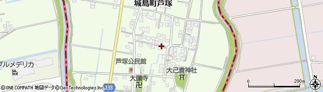 福岡県久留米市城島町芦塚周辺の地図