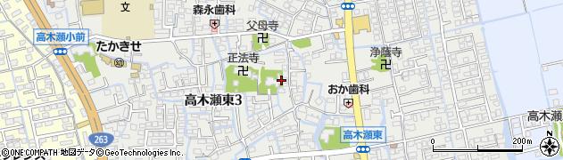 佐賀県佐賀市高木瀬東周辺の地図