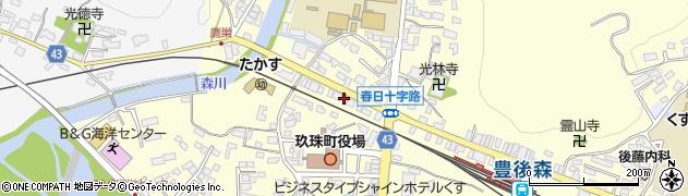 大分県玖珠郡玖珠町帆足208周辺の地図