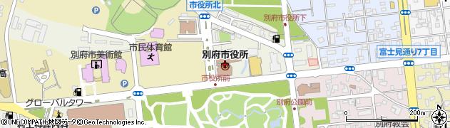 大分県別府市周辺の地図