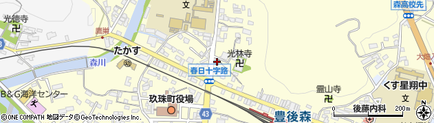 大分県玖珠郡玖珠町帆足232周辺の地図