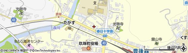大分県玖珠郡玖珠町帆足207周辺の地図