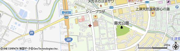 福岡県久留米市野伏間周辺の地図