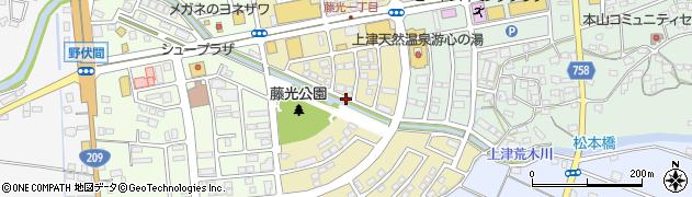 福岡県久留米市藤光周辺の地図