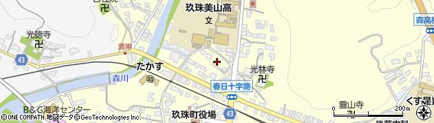 大分県玖珠郡玖珠町帆足205周辺の地図