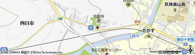 大分県玖珠郡玖珠町四日市352周辺の地図