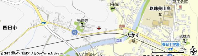 大分県玖珠郡玖珠町四日市357周辺の地図