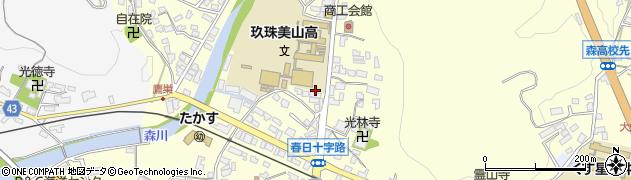 大分県玖珠郡玖珠町帆足158周辺の地図