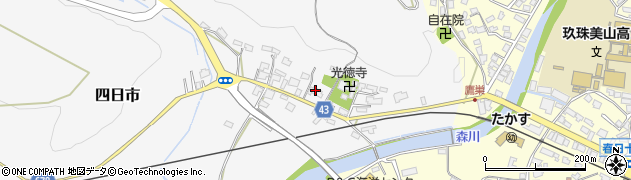 大分県玖珠郡玖珠町四日市283周辺の地図