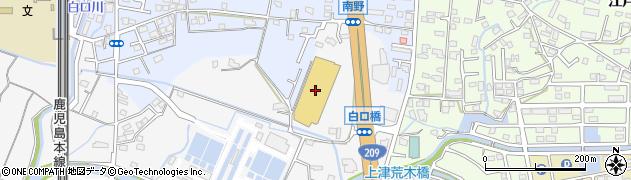 ホームプラザナフコ南久留米店周辺の地図