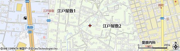 福岡県久留米市江戸屋敷周辺の地図