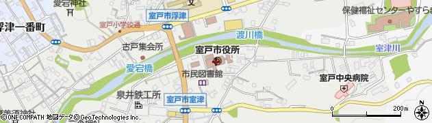 高知県室戸市周辺の地図