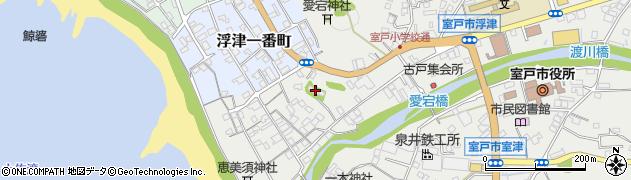中道寺周辺の地図