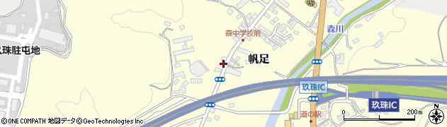 大分県玖珠郡玖珠町帆足2162周辺の地図