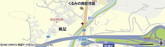 大分県玖珠郡玖珠町帆足2183周辺の地図