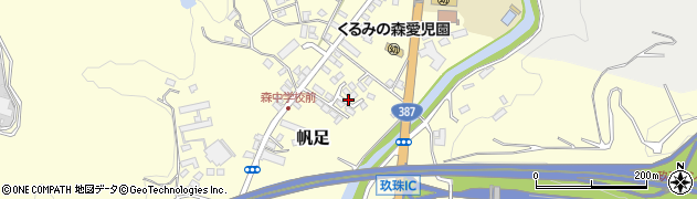 大分県玖珠郡玖珠町帆足2173周辺の地図
