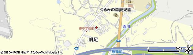 大分県玖珠郡玖珠町帆足2174周辺の地図