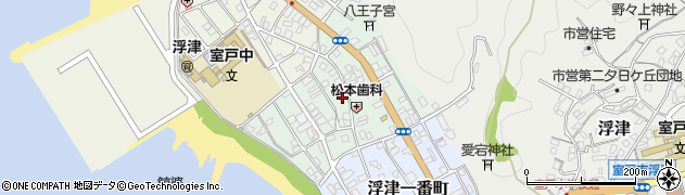 高知県室戸市浮津二番町周辺の地図