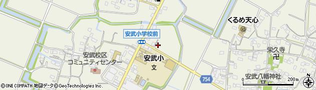 福岡県久留米市安武町周辺の地図