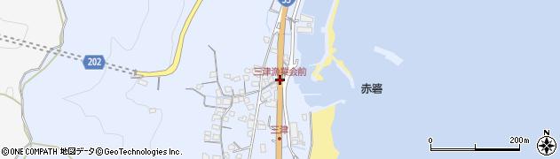 三津漁業会前周辺の地図