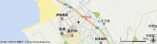 高知県室戸市浮津三番町周辺の地図