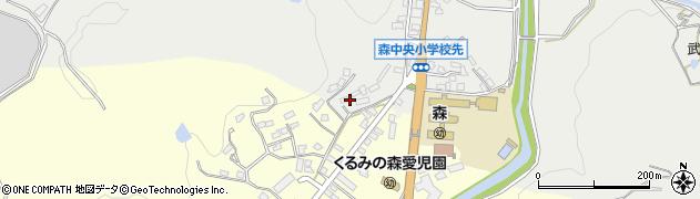 大分県玖珠郡玖珠町森1142周辺の地図