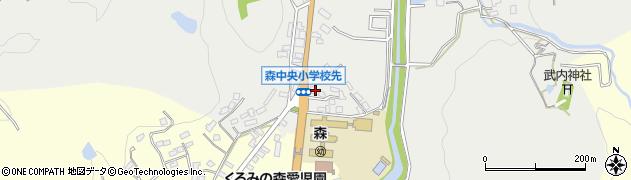 大分県玖珠郡玖珠町森15周辺の地図