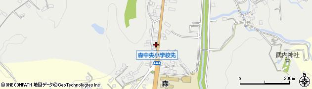 大分県玖珠郡玖珠町森22周辺の地図