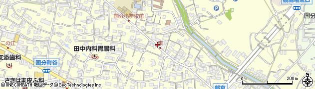 福岡県久留米市国分町周辺の地図