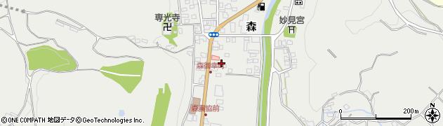 大分県玖珠郡玖珠町森37周辺の地図