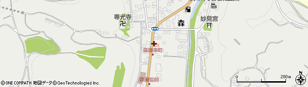 大分県玖珠郡玖珠町森38周辺の地図