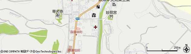 大分県玖珠郡玖珠町森42周辺の地図