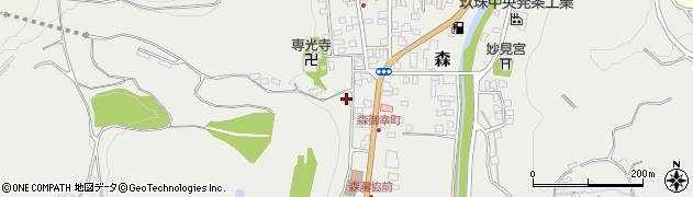 大分県玖珠郡玖珠町森1031周辺の地図
