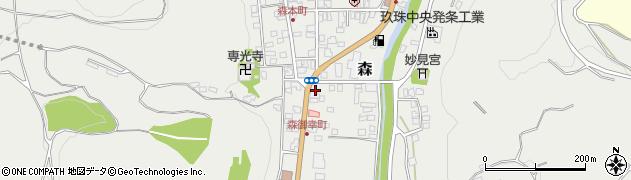大分県玖珠郡玖珠町森193周辺の地図